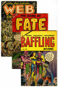 Golden Age (1938-1955):Horror, Baffling Mysteries and Related Titles Group (Ace, 1953-54)Condition: Average VG.... (Total: 3 Comic Books)