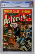 Golden Age (1938-1955):Horror, Astonishing #24 (Atlas, 1953) CGC VF- 7.5 Off-white pages....