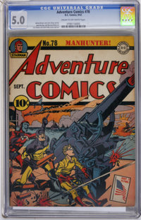 Adventure Comics #78 (DC, 1942) CGC VG/FN 5.0 Cream to off-white pages