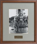 Explorers:Space Exploration, Buzz Aldrin NASA Photo in Framed Display Originally from HisPersonal Collection....