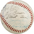 Explorers:Space Exploration, NASA Astronaut Groups One, Two, and Three: A Baseball Signed by Twenty-Nine. ...