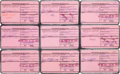 Explorers:Space Exploration, NASA Astronauts Group Two: Set of Nine Signed, July 1963-Dated,NADC ID Card Stubs. ...