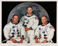 Autographs:Celebrities, Apollo 11 Crew-Signed White Spacesuit Color Photo....