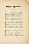 Books:Music & Sheet Music, [Music] Rodeheaver's Negro Spirituals. Chicago: The Rodeheaver Company, [n.d.]. Octavo. Original wrappers, with some...
