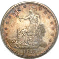 Trade Dollars, 1875 T$1 Type Two Reverse MS64+ PCGS. CAC....