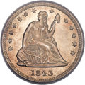 Seated Quarters, 1843-O 25C MS63 PCGS. Briggs 1-B....