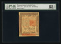 Colonial Notes:Pennsylvania, Pennsylvania April 10, 1775 50s PMG Gem Uncirculated 65 EPQ.. ...