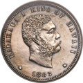 Coins of Hawaii, 1883 12.5C Hawaii 12 1/2 Cents PR62 PCGS....