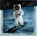"Explorers:Space Exploration, Apollo 11: David Johnson Signed Limited Edition ""Reflection"" SilkScreen Print, also Signed by Alan Bean, Gene Cernan, and Al ..."