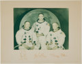 Autographs:Celebrities, Apollo 11 Color Photo Crew-Signed on Mat. ...