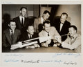 Autographs:Celebrities, Mercury Seven Astronauts: Photo Signed by Six (Missing Schirra),Originally from the Personal Collection of Dr. Shirley Thomas...