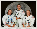 Autographs:Celebrities, Neil Armstrong Signed White Spacesuit Color Apollo 11 Crew Photo, with PSA/DNA LOA....