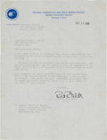 Explorers:Space Exploration, Roger Chaffee's Original Astronaut Acceptance Letter Originallyfrom his Personal Collection....