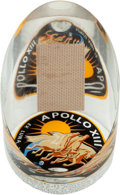 Explorers:Space Exploration, Apollo 13 Flown Swatch from Lovell's Couch in Lucite Display. ...