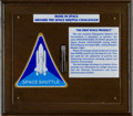 Explorers:Space Exploration, Space Shuttle Challenger (STS-6) Manufactured and FlownPolystyrene Spheres in Presentation. ...