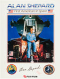 Autographs:Celebrities, Alan Shepard Signed Large Color Poster. ...