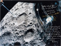 Autographs:Celebrities, Apollo 13 Large Color Lunar Photo Signed with Quotes by Haise,Lovell, and Lousma. ...