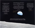 "Autographs:Celebrities, Apollo 8 Large ""Earthrise"" Color Photo Signed by Borman and Lovell...."