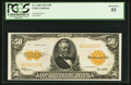 Large Size:Gold Certificates, Fr. 1200 $50 1922 Gold Certificate PCGS About New 53.. ...
