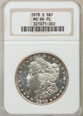Morgan Dollars: , 1878-S $1 MS64 Prooflike NGC. NGC Census: (703/222). PCGS Population (471/144). Numismedia Wsl. Price for problem free NGC...