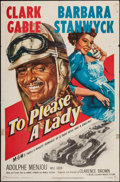 "Movie Posters:Adventure, To Please a Lady (MGM, 1950). One Sheet (27"" X 41""). Adventure....."