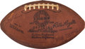 Football Collectibles:Balls, 1963 National Football League Championship Game Used Football Multi Signed by New York Giants - Sourced From Charlie Conerly C...