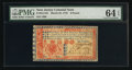 Colonial Notes:New Jersey, New Jersey March 25, 1776 £6 PMG Choice Uncirculated 64 EPQ.. ...