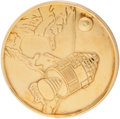 Explorers:Space Exploration, Apollo 1 Gold-Colored Fliteline Medallion. ...