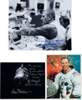 Autographs:Celebrities, Apollo 13: Photos Signed by Lovell, Kranz, and Liebergot....(Total: 3 Items)