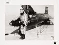 Explorers:Space Exploration, Neil Armstrong Signed Original NASA Glossy Photo with X-15 #1, withPSA/DNA Auction LOA. ...
