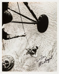 Autographs:Celebrities, Alan Shepard Signed Freedom 7 Ocean Rescue Photo. ...