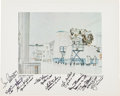 "Autographs:Celebrities, Apollo ""Lunar Module White Room"" Print Signed by Nine Lunar ModulePilots. ..."