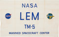 Explorers:Space Exploration, Apollo Program: Original NASA/ Grumman LEM Test Model 5 Banner. ...