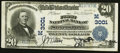 National Bank Notes:Wisconsin, Stevens Point, WI - $20 1902 Plain Back Fr. 650 The First NB Ch. # (M)3001. ...