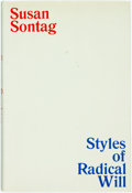 Books:Non-fiction, Susan Sontag. Styles of Radical Will. New York: Farrar, Straus and Giroux, [1969]. First edition. Top edge stained b...