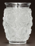Glass, LALIQUE CLEAR AND FROSTED GLASS BAGATELLE VASE. Post 1945. Engraved Lalique, France. Ht. 7 in.. ...