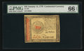 Colonial Notes:Continental Congress Issues, Continental Currency January 14, 1779 $45 PMG Gem Uncirculated 66EPQ.. ...