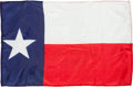 Explorers:Space Exploration, Gemini 7 Flown Largest-Size Texas State Flag Originally from the Personal Collection of Mission Pilot James Lovell, Signed (Tw...