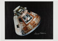 Autographs:Celebrities, Apollo 11: Michael Collins Signed Columbia Large CanvasColor Photo Originally from Buzz Aldrin's Personal Collect...