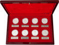 "Explorers:Space Exploration, Uzbekistan Set of Eight One Ounce Silver ""Outstanding Personalities"" Proof Coins in Presentation Case, Originally from the Per..."