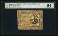 Colonial Notes:Continental Congress Issues, Continental Currency May 9, 1776 $2 PMG Choice Uncirculated 64.....
