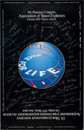 "Autographs:Celebrities, Association of Space Explorers Limited Edition ""9th PlanetaryCongress"" Commemorative Poster, Signed by More than Sixty-Five A..."