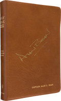 Autographs:Celebrities, Alan Bean's Signed Personal Bible as Presented to Him in 1971 byHis Hometown Church, Originally from His Personal Collection....
