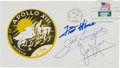 Autographs:Celebrities, Apollo 13 Crew-Signed First Anniversary Launch Cover....