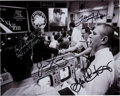 Autographs:Celebrities, Apollo 13 Mission Control Photo Signed by Haise, Kranz, Liebergot,and Lovell, with LOA. ...