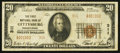 National Bank Notes:Pennsylvania, Gettysburg, PA - $20 1929 Ty. 2 The First NB Ch. # 311. ...