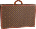 "Luxury Accessories:Travel/Trunks, Louis Vuitton Classic Monogram Canvas Alzer 70 Hardsided Trunk .Good Condition . 28"" Width x 18 "" Height x 7""Depth..."