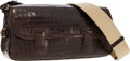 """Luxury Accessories:Bags, CeCe Cord Brown Crocodile Shoulder Bag with Gold Hardware. VeryGood to Excellent Condition. 12"""" Width x 6.5"""" Heightx..."""