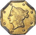 California Fractional Gold , 1853 $1 Liberty Octagonal 1 Dollar, BG-522, High R.6, MS61 NGC....