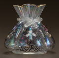 Art Glass:Other , HECKERT ENAMELED GLASS CABINET VASE. Circa 1910. Enameled FH,4306. 1.. Ht. 4-1/4 in.. ...